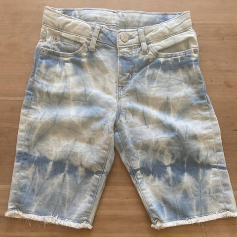 GAP girls' tie dye denim bermuda shorts, age 8