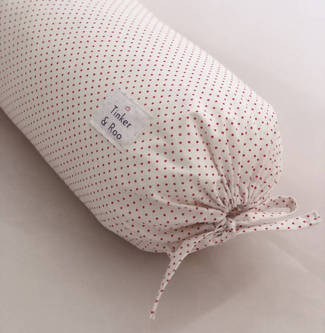 Pink Dot Bolster Cushion by Tinker & Roo