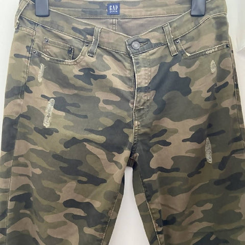 Gap ladies distressed camo jeans, W30