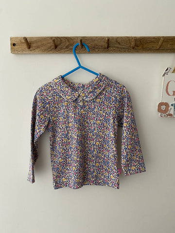 New JoJo Bebe Maman Floral PeterPan Top