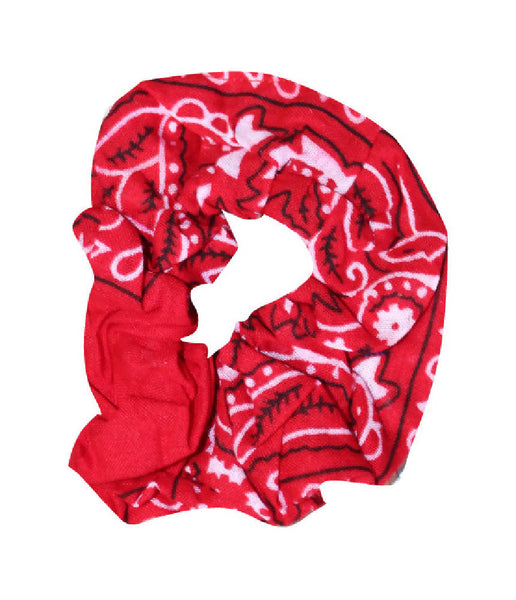 PRETTY DISTURBIA PUNK GRUNGE ROCKABILLY BANDANA PRINT HAIR SCRUNCHIE