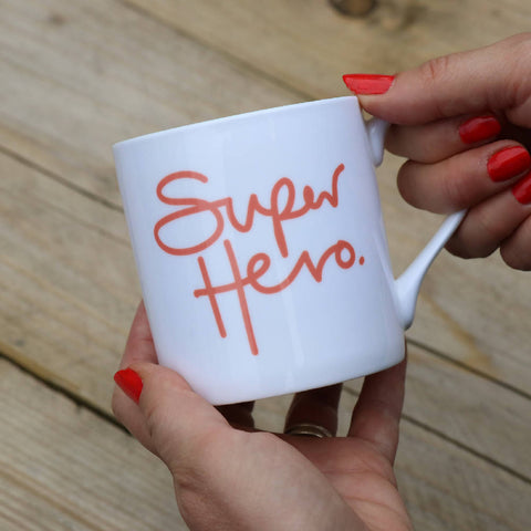Super Hero, bone china, Mindful Mug