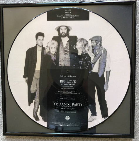 Fleetwood Mac - BIG LOVE - Framed Picture Disc vinyl record wall art hanging
