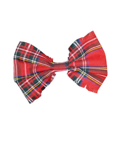 BABIES RED TARTAN HAIR BOW | PRETTY DISTURBIA