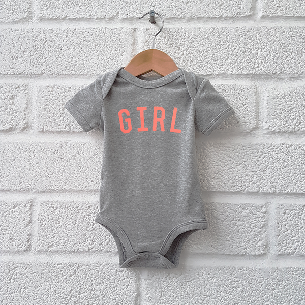 The Grey & Neon GIRL Bodysuit