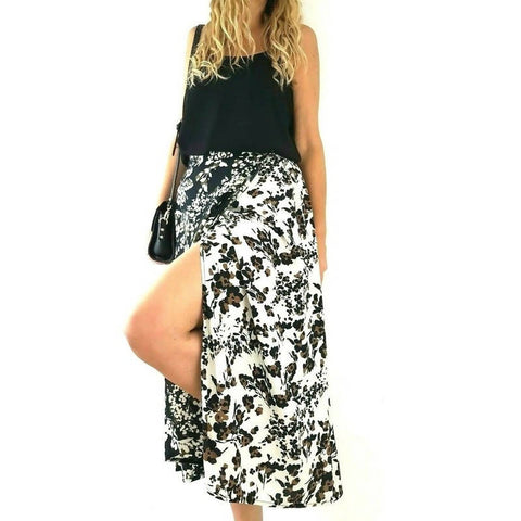 NEW Next Skirt Midi Floral Wrap 12