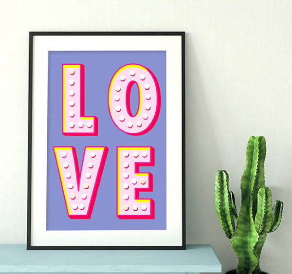 Vegas Love Poster Print - Home Decor - Wall Art