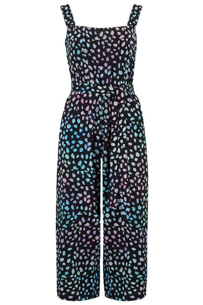 Sugarhill Brighton - Millie Painterly Dot Batik Culotte Jumpsuit
