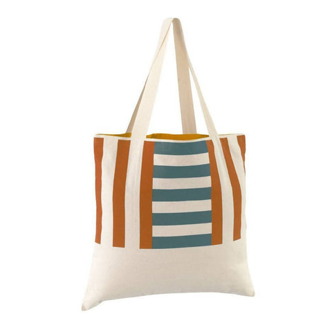 Beach Bag | Marine Blue & Terracotta