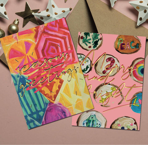 Christmas cards set of 6