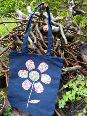 Upcycled tote bag