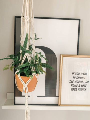 Large Macrame Plant Hanger - Natural