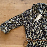 H&M BNWT girls' black floral shirt dress, age 8-9