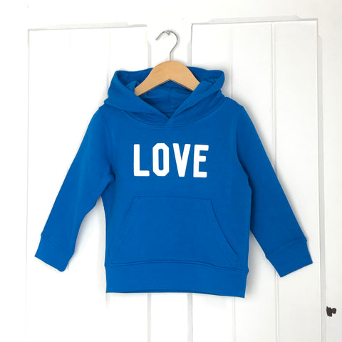 LOVE Kids Hoody<br>Blue