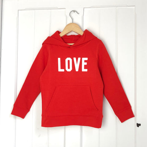 LOVE Kids Hoody<br>Primary Red