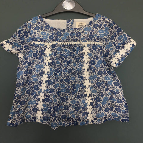 Boden Floral summer Top (3-4yrs)