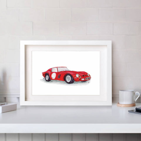 Ferrari GTO Illustration Print