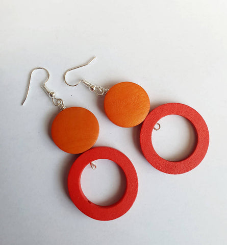Colour Pop Red and Orange Circles
