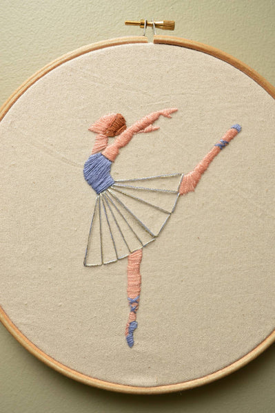 Ballet dancer embroidery hoop -Wall Art