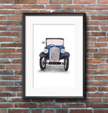 Austin 7 Saloon Colour Illustration