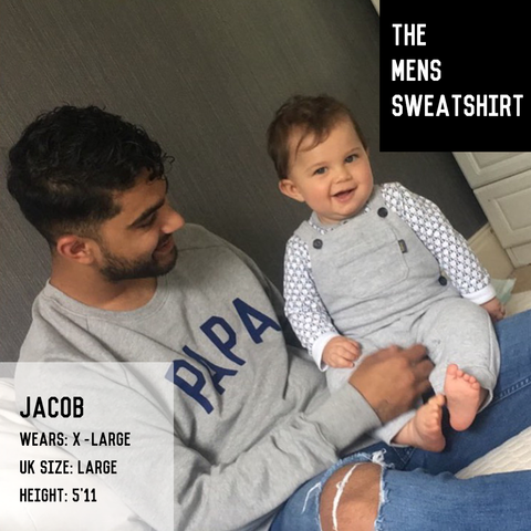 Grey & White DADDING IT Sweatshirt