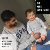 The Grey & Neon PAPA Sweatshirt