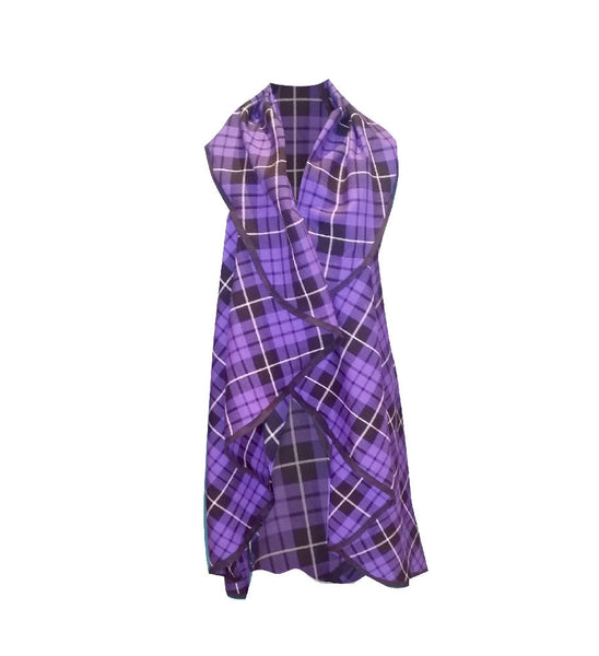 PRETTY DISTURBIA HANDMADE PURPLE TARTAN CAPE JACKET WAISTCOAT PUNK GRUNGE GOTHIC GOTH ALTERNATIVE