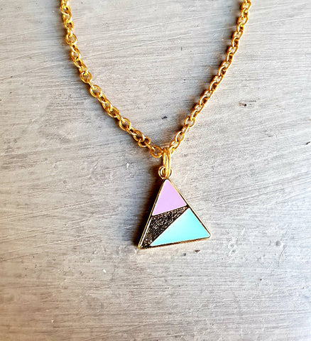 Enamelled Triangle Pendant