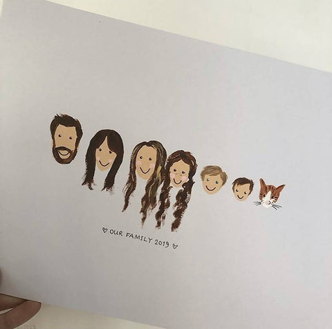 Personalised Family Face Portrait
