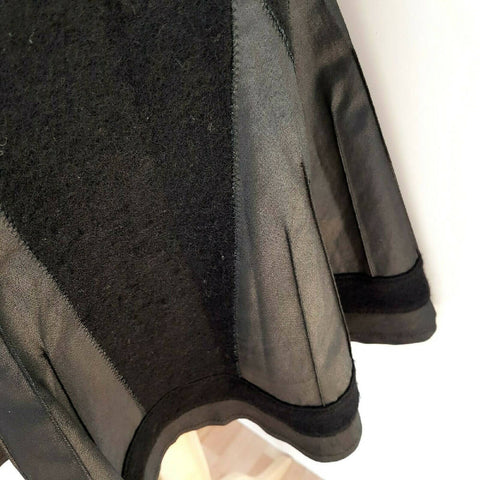 M&S Per Una A Line Black Skirt 12