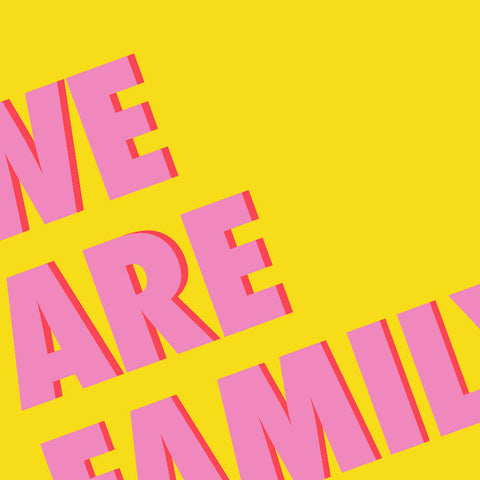 We Are Family Art Print (yellow/pink) | Home Decor - Wall Art - Typography