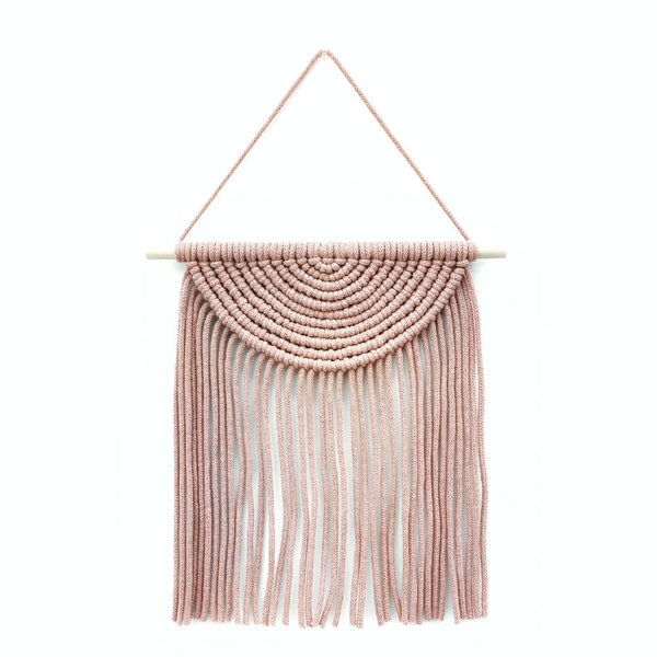 Macrame Semi Circle Wall Hanging [ Blush ]