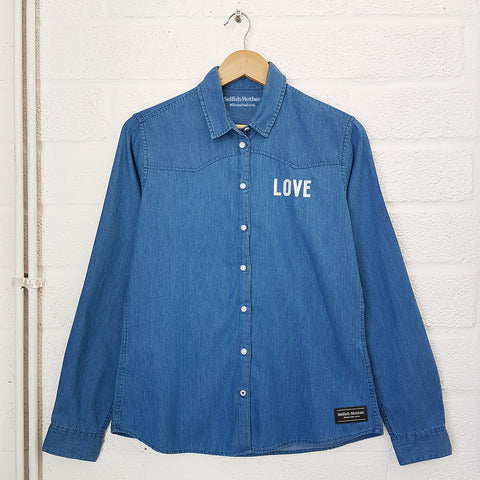 Blue Denim LOVE Shirt