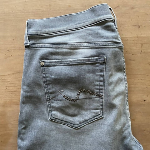 7 For All Mankind grey skinny boyfriend jeans, W30