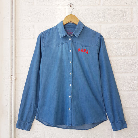 Women's Denim MAMA Shirt <br> Selfish Mother