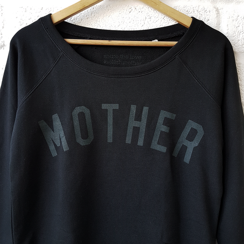 MOTHER Scoop Neck Sweatshirt - Black