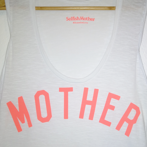 MOTHER white oversized Vest <br> Selfish Mother
