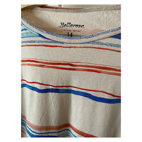 BELLEROSE ABSTRACT COTTON TEE AGE 12/14