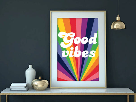 Good Vibes Poster Print - Home Decor - Wall Art