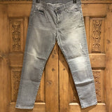7 For All Mankind grey distressed Josefina jeans, size 30