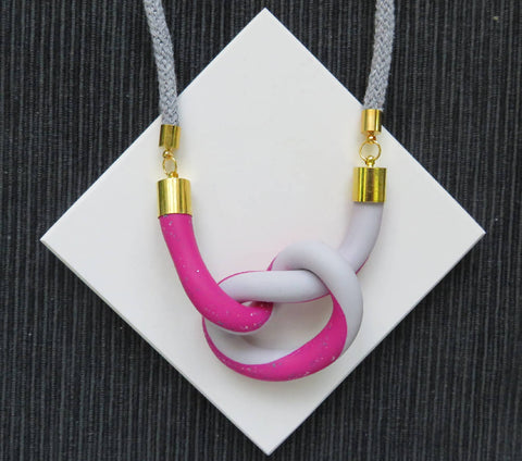 Twist knot necklace