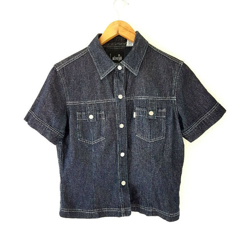 Levi's Silver Tab Cropped Denim Shirt Medium