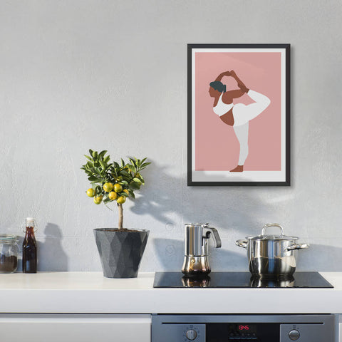 Dancer pose yoga art print