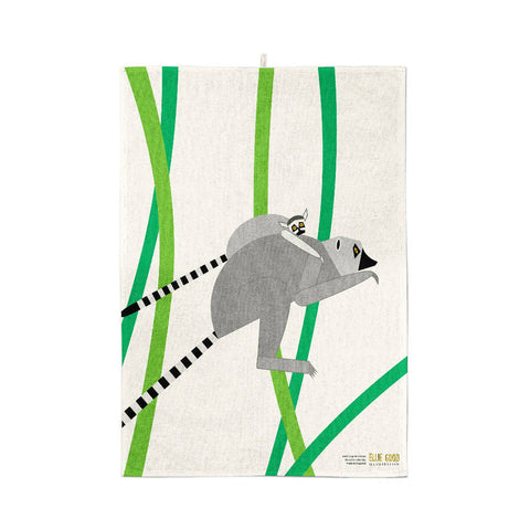 Lemurs Organic Cotton Tea Towel