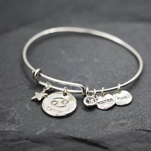 'Cancer' Star sign adjustable bangle