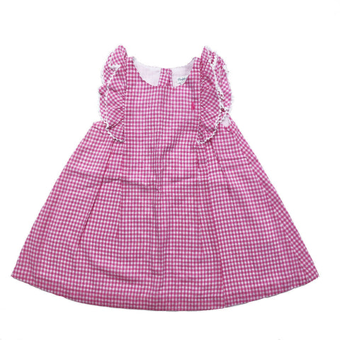 RALPH LAUREN PINK GINGHAM DRESS 24 MONTHS