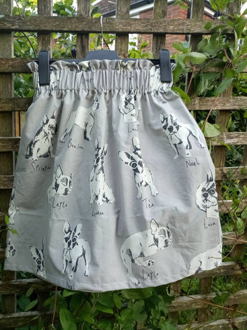 Paper bag waist upcycled skirt