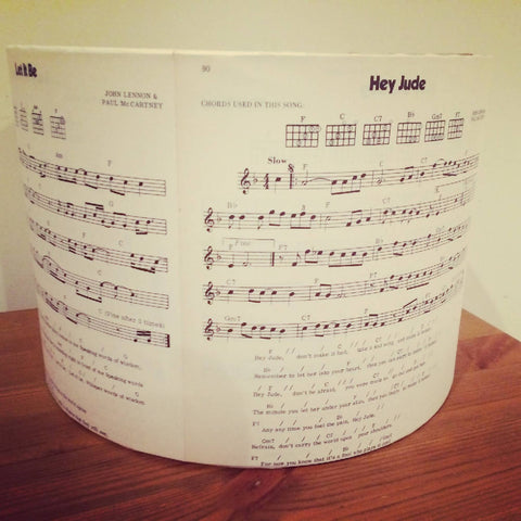 Double Sided Beatles Handmade 30cm Large Sheet Music Light Shade