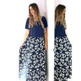 Gok for TU Floral Maxi Skirt Navy 12