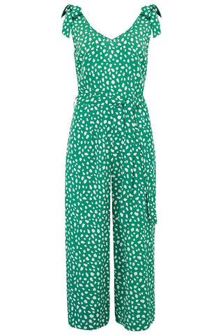 Sugarhill Brighton - Athina Painterly Spot Culotte Jumpsuit